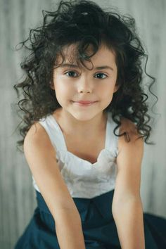 Curly Dark Hair And Dark Eyes: Character Inspiration Beautiful Little Girls, Cute Little Girls, Beautiful Children, Beautiful Babies, Cute Kids, Cute Children, Cute Baby Girl, Cute Babies, Girls Characters