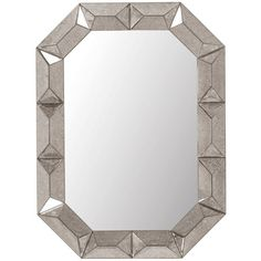 Bungalow 5 Romano Wall Mirror in Antique Mirror Beveled Mirror, Mirror Mirror, Octagon Mirror, Mirror Bathroom, Making Glass, Contemporary Wall Mirrors, Modern Wall, Bungalow 5, Wall Mounted Mirror