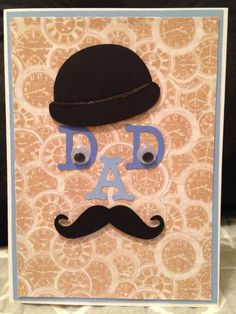 Handmade Happy Father's Day Card Fathers Day Cards Handmade, Happy Fathers Day Cards, Fathers Day Gifts, Fun Activities For Kids, Kids Fun, Crafts For Kids, Diy Crafts, Diy Father's Day Cards, Daddy Day