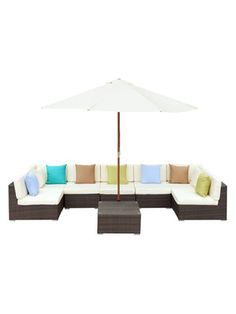Pearl River Modern CA Monterey Outdoor Patio Sectional Set (4 PC)