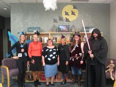 Bellevue University Library crew - Halloween 2015