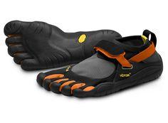 "my new Vibram Fivefingers KSO ""barefoot"" running shoes"