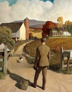 Vintage Dog Print | Newell Convers Wyeth (1882 – 1945) The Homecoming