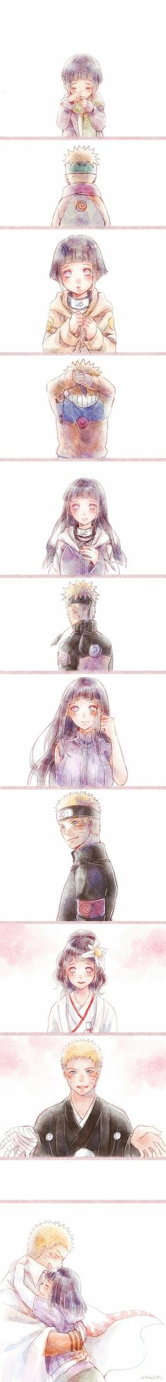 I love Hinata for always being with Naruto, no matter what she had to go through. That is true strength. She was VERY useful in the series of Naruto. Even tho she doesn't know, she helped Naruto through some tough times too. Anime Naruto, Manga Anime, Naruto Y Hinata, Manga Kawaii, Sasuke Sakura, Naruto Cute, Sarada Uchiha, Hinata Hyuga, Naruto Shippuden Anime