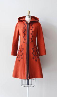Farb-und Stilberatung mit www.farben-reich.com - Volga wool coat / 70s red wool coat / 1970s russian by DearGolden, $168.00