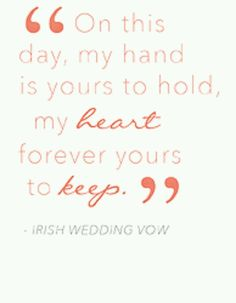 How to plan a #Wedding #Ceremony ♡ WEDDING VOWS ... EXAMPLE ♡ https://itunes.apple.com/us/app/the-gold-wedding-planner/id498112599?ls=1=8  ♡ Weddings by Colour ♡ http://www.pinterest.com/groomsandbrides/