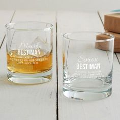 Personalised Best Man Tumbler Glass £20. This best man present would make a memorable 'thank you' gift on your special day. #wedding #bestman #whisky