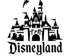 Disneyland Castle vinyl decal, stic ker - NEW . Disney Crafts, Disney Fun, Disney Decals, Disney Silhouettes, Disneyland Trip, Disney Scrapbook, Scrapbook Paper, Disney Shirts, Cricut Design