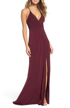 La Femme Studded Pleated Gown available at #Nordstrom