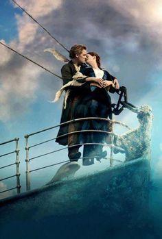 Leonardo di Caprio and Kate Winslet in Titanic Jack Dawson, Titanic Ship, Rms Titanic, Titanic Art, Film Titanic, Titanic Poster, Titanic Model, Titanic History, Billy Zane