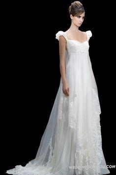Stunning Empire Organza Bridal Wedding Dress   A Line Wedding Dress Empire Waist on The Best Price