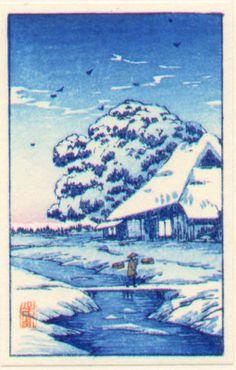 Takahashi Shotei Woodblock Print -