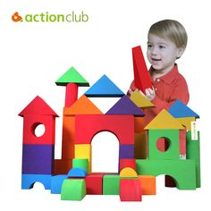 Actionclub Educational Baby Boys Girls Playing Toys Kids Multicolor Building Blocks Children Funny Toys For Learning  #Affiliate