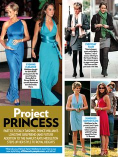 compare princess di with kate middleton | From PEOPLE Magazine Click to enlarge