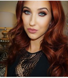 Another beautiful look by Jaclyn Hill Auburn, Beauty Youtubers, Copper Hair, Copper Red, Gorgeous Makeup, Love Hair, Up Girl, Looks Cool, Red Hair