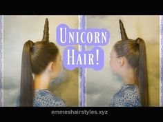 Wonderful UNICORN Hair Tutorial! (HORN, MANE & TAIL) Crazy Hair Day! My Little Pony Costume Hairstyle – YouTube The post UNICORN Hair Tutorial! (HORN, MANE & TAIL) Crazy Hair Day! My Little Pon ..