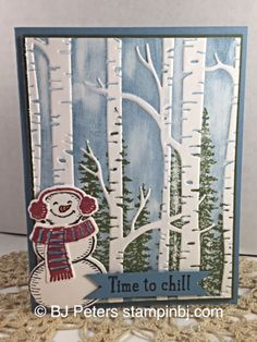 Snow Place, Wonderland, Woodlands embossing, BJ Peters, Stampin' up! Christmas Cards To Make, Xmas Cards, Handmade Christmas, Holiday Cards, Christmas Crafts, Prim Christmas, Fall Cards, Winter Cards, Snow Place