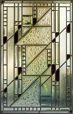 Beveled Window designed by V. Fraser from Cardinal Glass Studio.