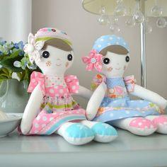 PDF sewing pattern Doll, soft toy, Dressed doll ,    'POPPY' Dolly