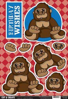 Buzzcraft Jungle Life Cut & Create - Gordon the Gorilla