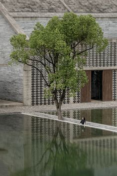 Yangshuo Sugar House in Guilin, China by Vector Architects | Yellowtrace Historical Architecture, Contemporary Architecture, Interior Architecture, Interior Design, Sunken Garden, Guilin, Adaptive Reuse, Hotel Interiors, Concrete Blocks