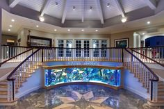 Best Ideas For Home Stairs Design With Aquarium 59 - Setting up a freshwater aquarium can be fun! But do you already have an idea on which freshwater aquarium fish to purchase? There are plenty of them a. Cool Fish Tanks, Saltwater Fish Tanks, Saltwater Aquarium, Amazing Fish Tanks, Conception Aquarium, Amazing Aquariums, Home Stairs Design, Double Staircase, Aquarium Design