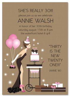 Ladies Birthday Invitations, Birthday Blowout Party