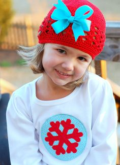 """Ailee, you picked out the Snowflake Princess theme for you 4 th birthday party because of the """"beautiful Winter Dress"""" you designed for Sa. 1st Birthday Parties, 4th Birthday, Embroidery Applique, Machine Embroidery Designs, Winter Theme, Winter Hats, Diva Design, Christmas Applique, Princess Theme"""