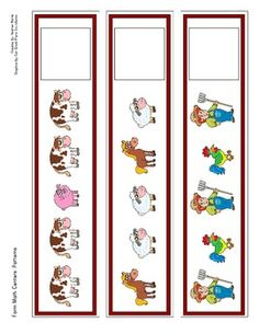 Pattern Cards: Farm Theme - Love these! Farm Animal Crafts, Farm Crafts, Farm Animals, Preschool Education, Preschool Themes, Preschool Farm, Farm Activities, Animal Activities, Farm Projects