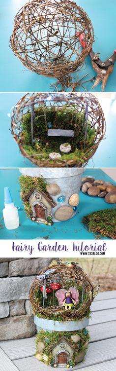 DIY Fairy Garden Tutorial - seven thirty three
