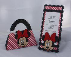 Minnie Mouse Birthday Invitations and Goody Bag Set. $40.00, via Etsy.