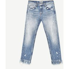 MID - RISE BOYFRIEND JEANS-JEANS-WOMAN-SALE | ZARA Thailand ❤ liked on Polyvore featuring jeans, boyfriend fit jeans, mid rise white jeans, boyfriend jeans, medium rise jeans and mid rise boyfriend jeans