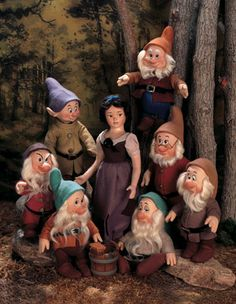 Snow White Dolls and Seven Dwarves,by R. John Wright