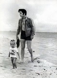 Elvis Aaron Presley and Lisa Marie Presley Elvis and Lisa in the beach292 x 400 | 31.1KB | www.fanpop.com