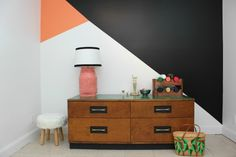 Bold but Easy Geometric Feature Wall