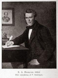 En ung S. A. Hedlund, som han såg ut då han värvade Rydberg till sin Handelstidning i Göteborg.