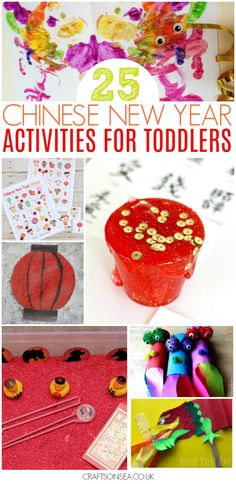 Fun Chinese New year activities for toddlers, over 25 simple ideas including crafts, sensory play, circle time activities, colouring pages and even a Chinese New Year themed game of bingo. Easy ideas to get preschoolers excited about the special day. #chinesenewyear #kidsactivities