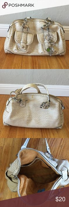 Kathy Van Zeeland purse Shiny croc print leather handbag with multiple interior packets and exterior compartments. Includes signature Kathy Van Zeeland key chain bling. Pristine condition inside and no outside scratches or scuffs! Kathy Van Zeeland Bags Satchels