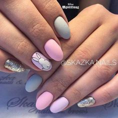 Best Easter Nail Art for 2019 includes bright bunny nails, cute egg nails, polka dot nails are some of the most talked about Nail Art Designs for Easter. Easter Nail Designs, Easter Nail Art, Nail Designs Spring, Nail Art Designs, Nails Design, Cute Nail Art, Cute Nails, Pretty Nails, Hair And Nails