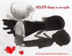 Rojo y negro    #blog #frases #ilustracion #reflexiones (volver siempre es una opción)