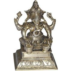 Brass Decor Sculpture Lord Ganesha: Amazon.co.uk: Kitchen & Home