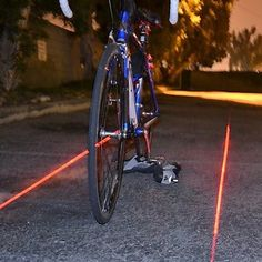 Laser Bike Lane Light – Black & Red