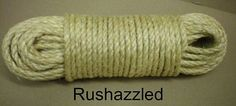 "1 4"" x 100' Natural Sisal Rope Cat Scratching Post Claw Control Toy Crafts Pet 