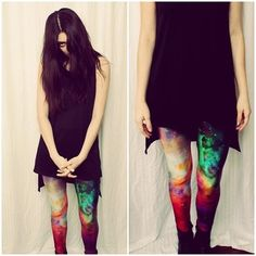 I can see the real you. #rainbow #galaxy #leggings