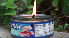 Tuna Oil Lamp: Surviving The Night With A Can Of Tuna | https://survivallife.com/make-tuna-oil-lamp/