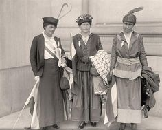 Suffragists You are viewing an educational image of Woman Suffrage Group of Suffragists. It was taken in 1916 by Harris & Ewing.   The illustration illustrates United States.