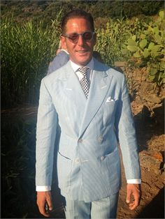 Lapo Elkann at the wedding of Carlo Borromeo and Marta Ferri in Pantelleria