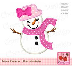 Snowman girl with bow