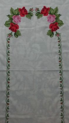 This Pin was discovered by Müm Crewel Embroidery, Plastic Canvas, Needlepoint, Cross Stitch Patterns, Needlework, Tapestry, Diy Crafts, Floral, Cotton Suit