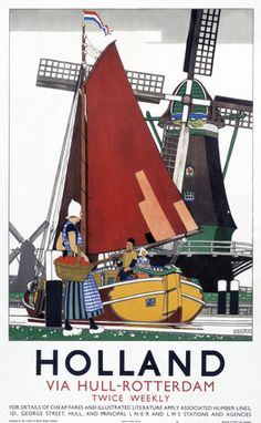 'Holland', LNER poster, 1923-1947....I have a copy of this poster it is beautiful